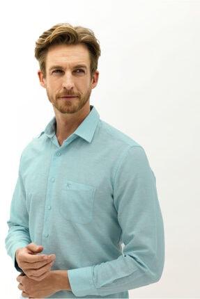 Kiğılı Uzun Kol Keten Relax Fit Gömlek