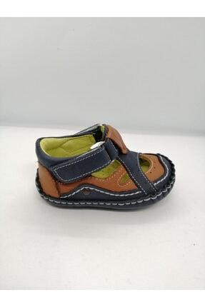 OVI Baby Shoes Erkek Bebek Lacivert Ortopedik Hakiki Deri İlk Adım Ayakkabısı