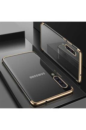 Samsung Galaxy A30s Kılıf Şeffaf Köşeleri Renkli Şık Tasarım Kapak