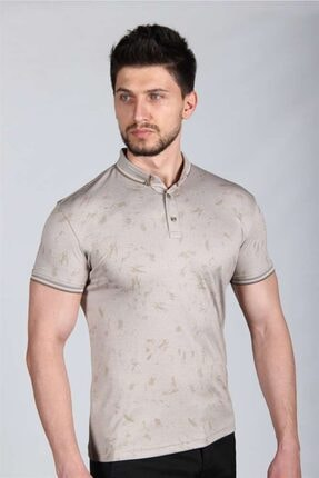 İgs Erkek Bej Standart Polo Yaka Tişört