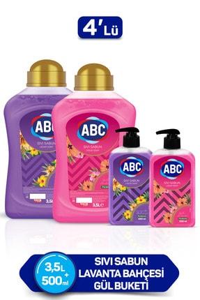 ABC Sıvı Sabun 3500 + 500 ml (Gül+Lavanta) x 2 Adet