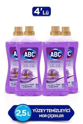 ABC Mor Çiçekler Yüzey Temizleyici 2500 Ml X4