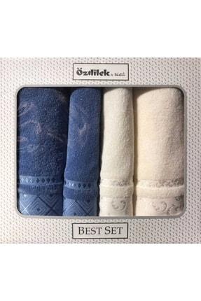 Özdilek Serene Best Set Hamam Takımı Krem Mavi