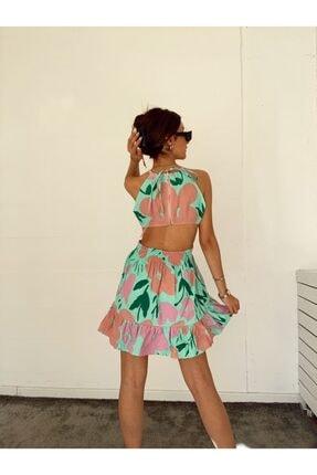 Valeur Sırt Dekolte Detaylı Poplin Mini Elbise