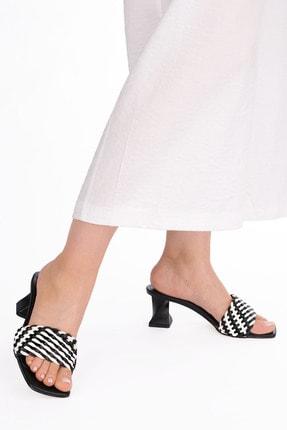 Marjin Kadın Beyaz  Topuklu Terlik Sofla