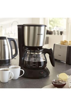 Philips Çelik Filtre Kahve Makinesi 1000 Watt - Siyah