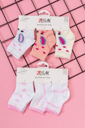 BSM 6'lı Bebek Pamuklu Renkli Şirin Yüksek Kalite Çorap