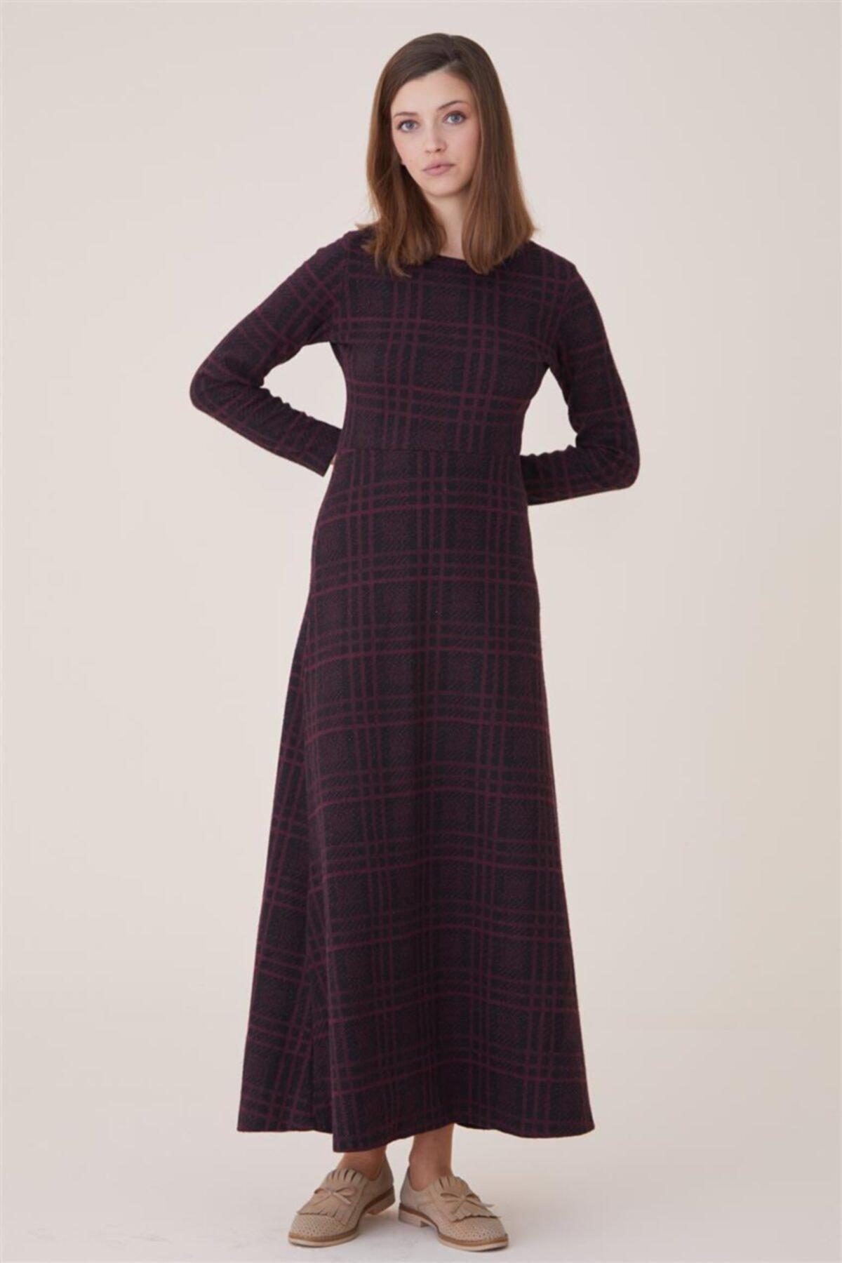 Nassah Kadın Bordo Elbise Nassah-UU-9W1012 2