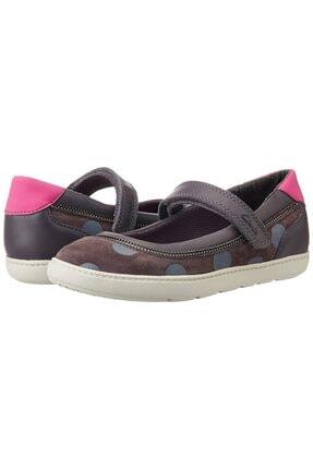 CLARKS Kız Çocuk Ayakkabı 2-6 Yaş Ortopedik Zita Grey Mary Jane Belly