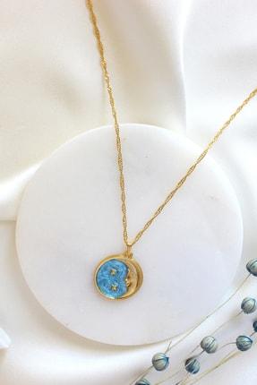 Dazzlecave Pastel Mavi Moon Star Kolye