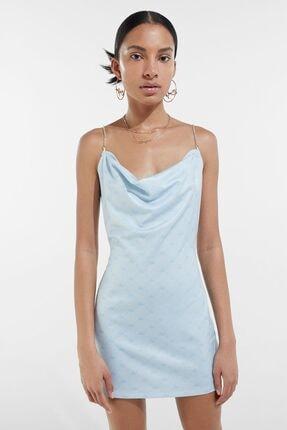Bershka Kadın  Bad Gyal X Zincir Askılı Elbise