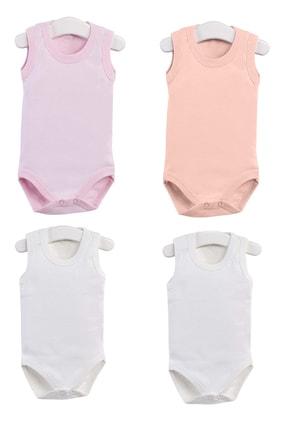 Pattaya Kids Kız Bebek Çıtçıtlı Kolsuz Body 0-36 Ay