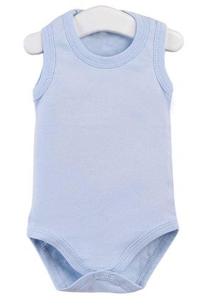Pattaya Kids Erkek Bebek Mavi Çıtçıtlı Kolsuz Body Ptk20s-406