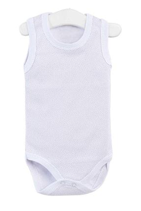 Pattaya Kids Erkek Bebek Beyaz Çıtçıtlı Kolsuz Body 0-36 Ay