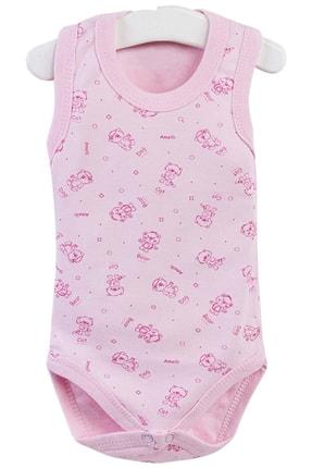 Pattaya Kids Kız Bebek Kolsuz Çıtçıtlı Body 0-36 Ay PTK20S-403