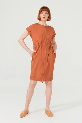 BİRELİN Önü Fermuarlı Pamuk Elbise