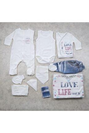 Bebetto Kız Bebek Krem Love Life Hastane Çıkışı Set 10'lu