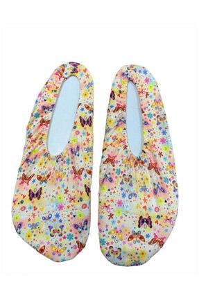 Week Unisex Çocuk Renkli Kelebek Desenli Deniz Ayakkabısı