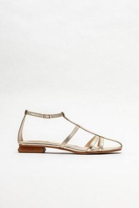 Elle Shoes Kadın Gold Düz Sandalet