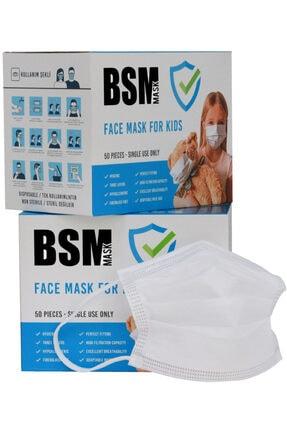 BSM Beyaz Meltblown Çocuk Maskesi 100 Adet