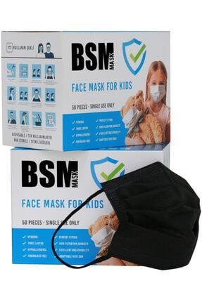 BSM Siyah Medikal Çocuk Maskesi 100 Adet