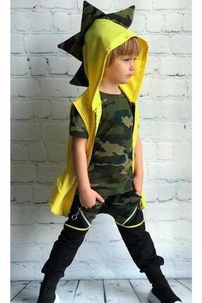 Riccotarz Erkek Çocuk Dino Kamuflaj Cepkenli Eşofman Takım