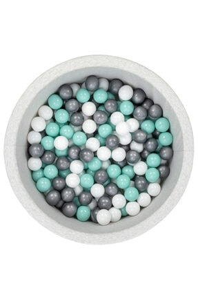 Wellgro Gri Beyaz Mint Toplu Bubble Pops Sünger Top Havuzu