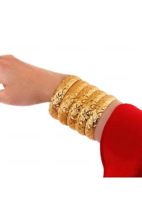 Yıldız Gold İmitasyon 22 Ayar Altın Kaplama Cam Kırığı Model 1.5 Cm Bilezik