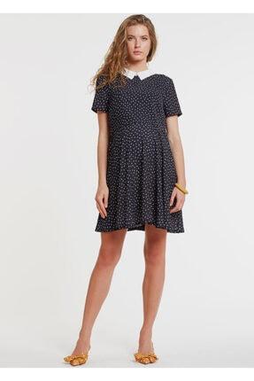 GEBE Bluzlu Ve Kruvaze Yaka Iç Elbiseli Hamile Elbisesi Dress Paris