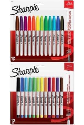 Sharpie 24'lü Kalem Seti (12 Ad. Fine + 12 Ad. Ultra Fine)