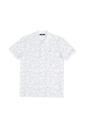 Avva Erkek Beyaz Polo Yaka Baskılı T-shirt A11y1151