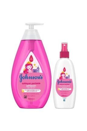 Johnson´s Baby Işıldayan Parlaklık Şampuan 750 ml + Işıldayan Parlaklık Sprey 200 Ml