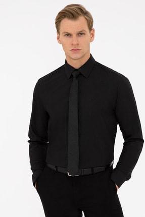 Pierre Cardin Siyah Regular Fit Basic Gömlek