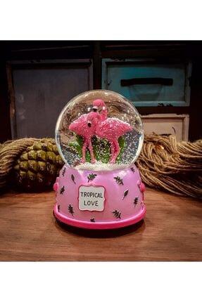 Cambaz Alışveriş Flamingo Müzikli Kar Küresi Büyük Boy