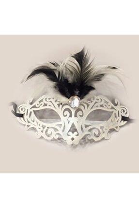 Anka Amber Tüylü Balo Maskesi