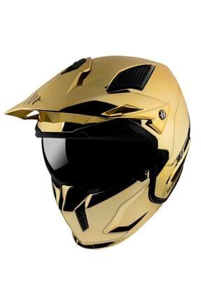 MT Helmets Mt Kask Streetfighter Sv Chromed A9 Gold Parlak Altın Rengi