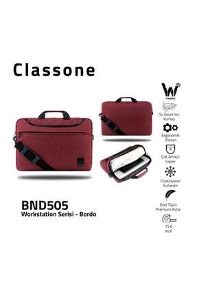 "Classone Workstation Bnd505 15.6 ""su Geçirmez Kumaş ,macbook,mac Air, Notebook ,laptop,çantası-bordo"