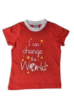 Fuar Baby Erkek Bebek Change The World Baskılı %100 Pamuk T-shirt