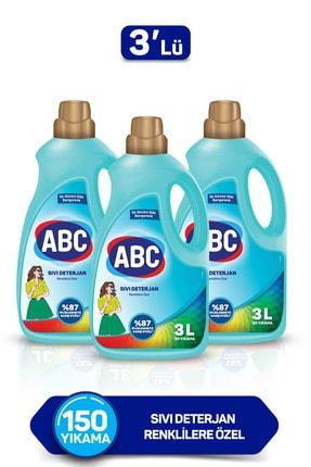 ABC Renklilere Özel Sıvı Deterjan 3 Lt 3'lü Set