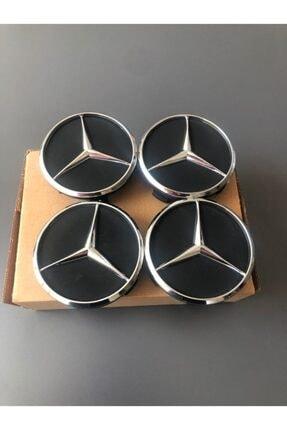 MERCEDES E Serisi Jant Göbeği-w211 Kasa-siyah-krom-4 Adet-dıştan 7.5cm Içten 6.9cm-2003-2009 Model