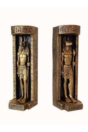 GÖKÇEN HOBİ Antik Mısır Anubis Ikili Mumluk Seti