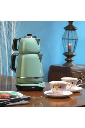 KORKMAZ A332-01 Demiks Turkuaz/krom Elektrikli Çaydanlık