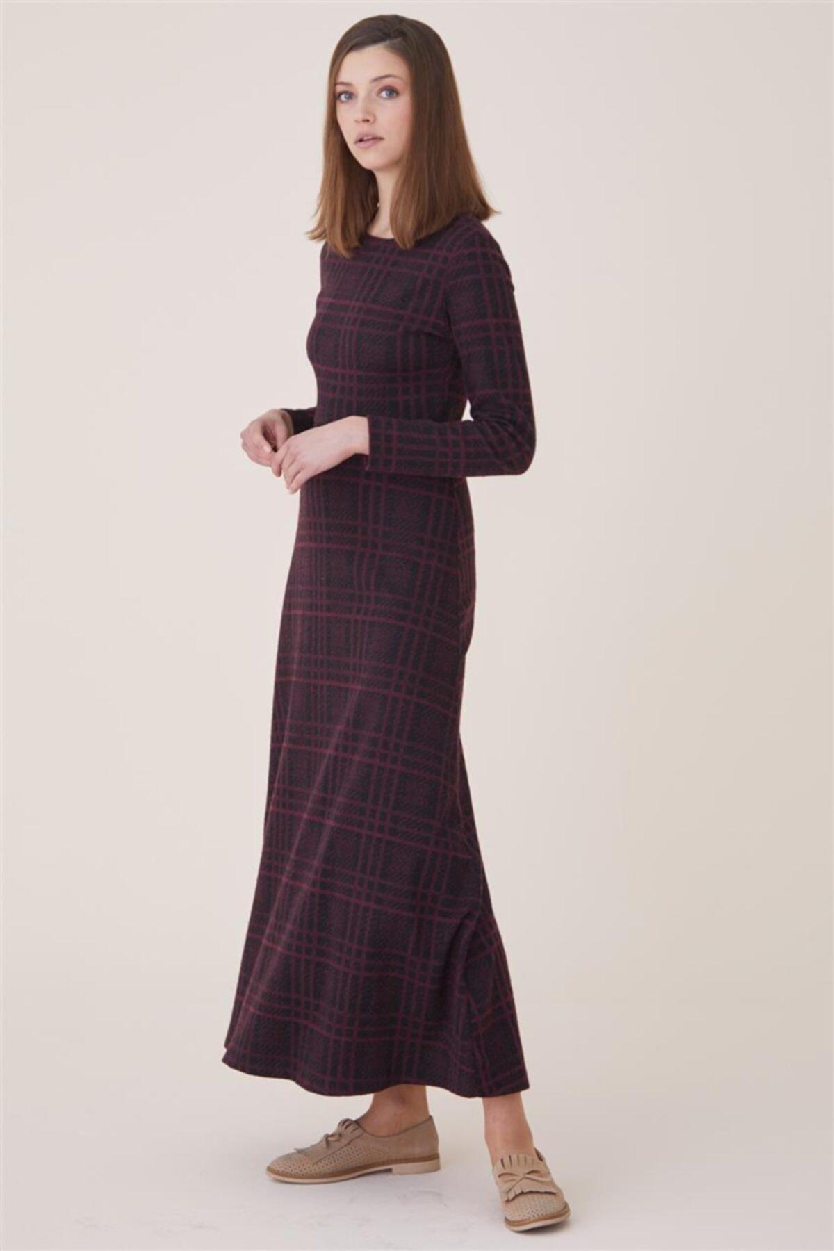 Nassah Kadın Bordo Elbise Nassah-UU-9W1012 1