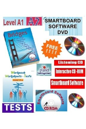 Planet Ingilizce Öğrenme Seti A.1. -a.2 Bridges Kitabı + Workpack Test Kitabı Cd -dvd Rom - Toplam 500 Sf