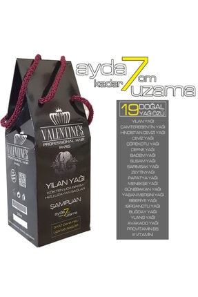 VALENTİNES Professional Yılan Yağı Şampuan (MUCİZE BAKIM VE ÜÇ KAT HIZLI UZAYAN SAÇLAR)