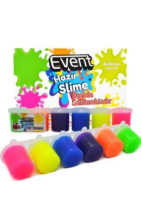 EVENT 6 Renk Hazır Slime Ce Belgeli Kaliteli 6x25ml Set