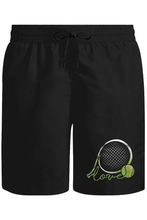 Lord T-Shirt Tenis - Love The Ball Unisex Siyah Şort
