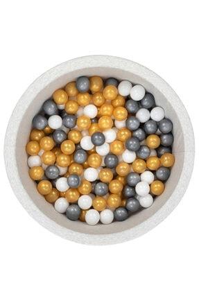 Wellgro Gri Beyaz Altın Bubble Pops Sünger Top Havuzu