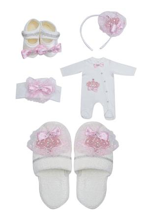 Pattaya Kids Anne Terlik ve Kız Bebek Tulum Takım 0-3 Ay Ponpon820