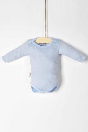 Pattaya Kids Erkek Bebek Mavi Uzun Kollu Çıtçıtlı Badi 115